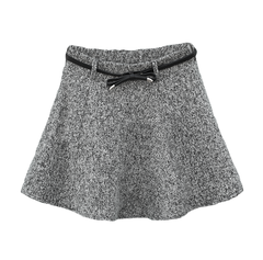 GREY,FELT,SKIRT,WITH,BOW,BELT,WOOL SKIRT, FELT SKIRT, GREY FELT SKIRT, BOW BELT SKIRT, GREY SKIRT, BOW BELT FELT SKIRT
