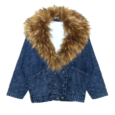 FAUX,FUR,COLLAR,DENIM,JACKET,DENIM JACKET, RAGLAN SLEEVE DENIM JACKET, FUR COLLAR DENIM JACKET, FUR COLLAR RAGLAN SLEEVE DENIM JACKET