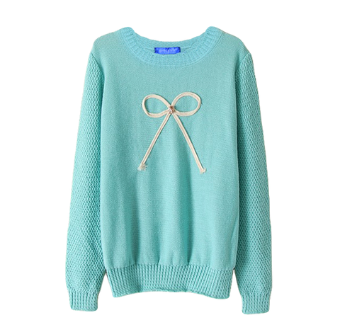 BOW,JUMPER,BLUE BOW JUMPER, CRYSTAL BOW JUMPER, BLUE KNITTED JUMPER, KNITTED JUMPER WITH BOW