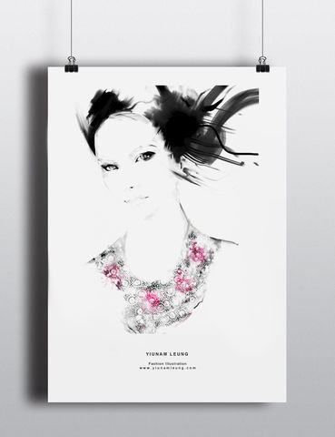 FASHION,PRINT,6,yiunam leung fashion illustration, fashion illustration print, fashion prints