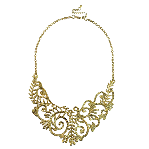 CUT OUT FILIGREE NECKLACE - product image