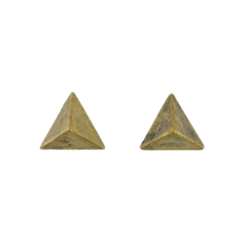 PYRAMID,EARRINGS,TRIANGLE PYRAMID EARRINGS, VINTAGE PYRAMID EARRINGS, PYRAMID EAR STUD, VINTAGE PYRAMID EAR STUD