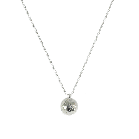 SILVER,SPHERE,NECKLACE,SPHERE NECKLACE, SPHERE PENDANT NECKLACE, SILVER SPHERE NECKLACE, IRREGULAR BALL NECKLACE