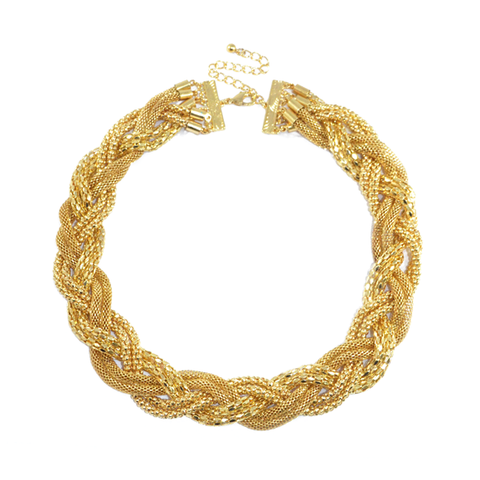 CHUNKY,TWISTED,CHAIN,NECKLACE,CHAIN NECKLACE, CHUNKY CHAIN NECKLACE, TWISTED CHAIN NECKLACE, GOLD TWISTED CHAIN NECKLACE