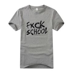 FXCK,SCHOOL,TEE,FUCK SCHOOL TEE, FUXK TEE, BLACK FUCK SCHOOL LOGO TEE, FXCK LOGO TEE