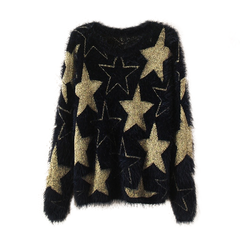 STAR,KNIT,JUMPER,STAR JUMPER, KNITTED JUMPER, GOLD STAR KNITTED JUMPER, EYELASH TIM JUMPER, STAR EYELASH TIM JUMPER