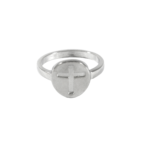 CONCAVE CROSS RING - product image