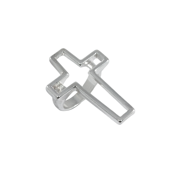 HOLLOW CROSS RING - product image