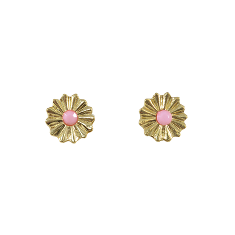 COLOURFUL,DAISY,EARRINGS,GOLD FLOWER EARRINGS, COLOR STAMEN FLOWER EARRINGS, MINIMAL FLOWER EARRINGS, MINIMAL GOLD TONE FLOWER EARRINGS, PINK FLOWER EARRINGS, BLUE FLOWER EARRINGS, BLACK FLOWER EARRINGS, DAISY EARRINGS, GOLD DAISY EARRINGS
