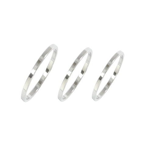 TRIPLE,MINIMAL,RING,SET,silver above minimal ring, silver above knuckle ring