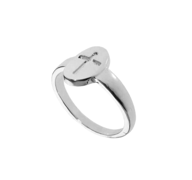 CONCAVE,CROSS,RING,CROSS RING, SILVER CROSS RING, SPECIAL CROSS RING , CONCAVE CROSS RING, SILVER CROSS PENDANT RING, SILVER TONE CROSS RING