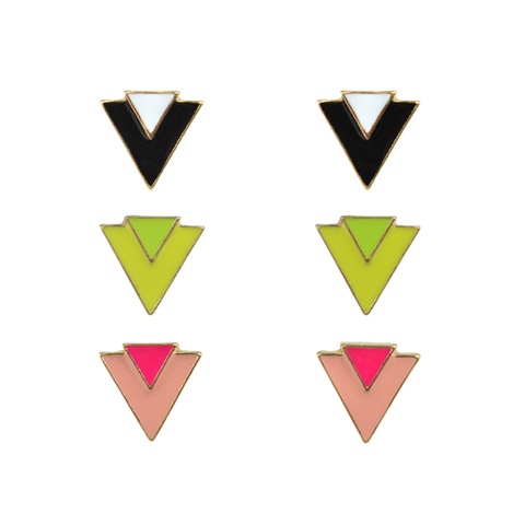 DOUBLE,TRIANGLE,EARRINGS