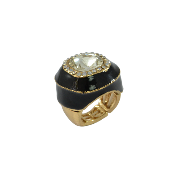 BLOCK CRYSTAL CHUNKY RING - product image