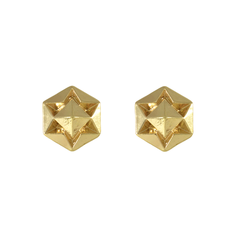 HEXAGON,STAR,EARRINGS