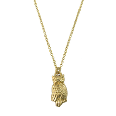 OWL,CHARM,NECKLACE