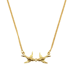 DOUBLE,SWALLOW,NECKLACE
