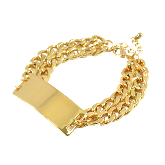 DOUBLE CHUNKY CHAIN BRACELET - product image