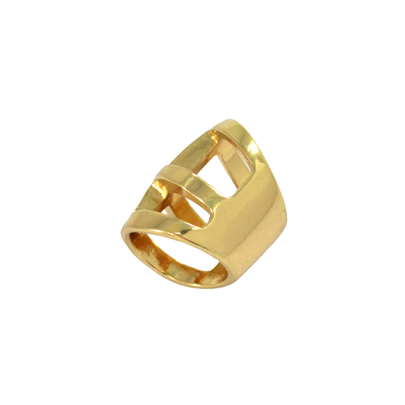 GOLD FRAME CHUNKY RING - product image