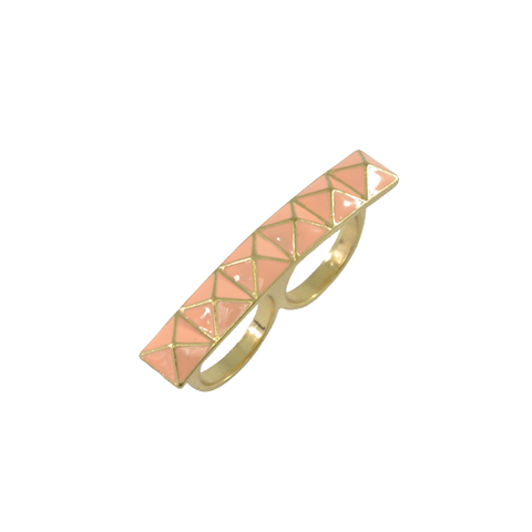 PINK,PYRAMID,DOUBLE,RING