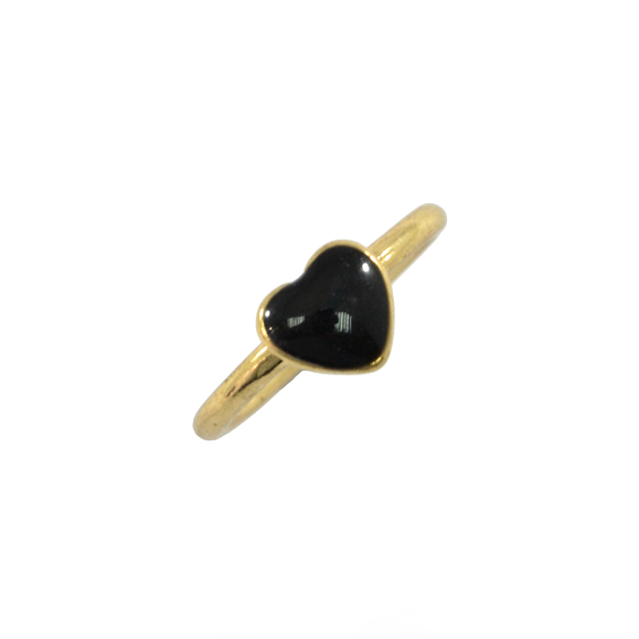 BLACK HEART RING - product image
