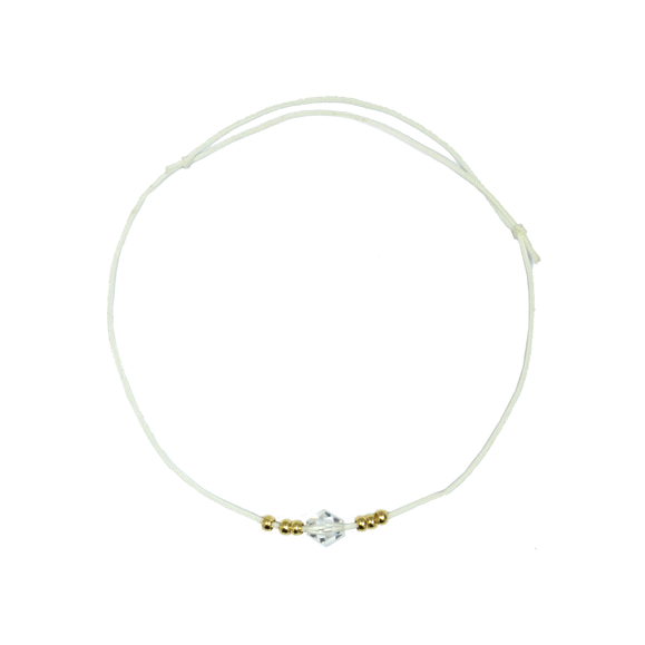 MINIMAL BEAD AND CRYSTAL BRACELET - product image