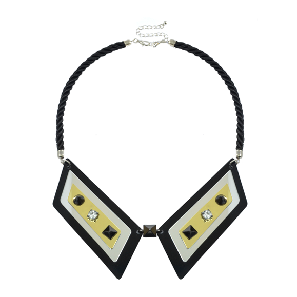 CRYSTAL AND SPIKE COLLAR NECKLACE - product image