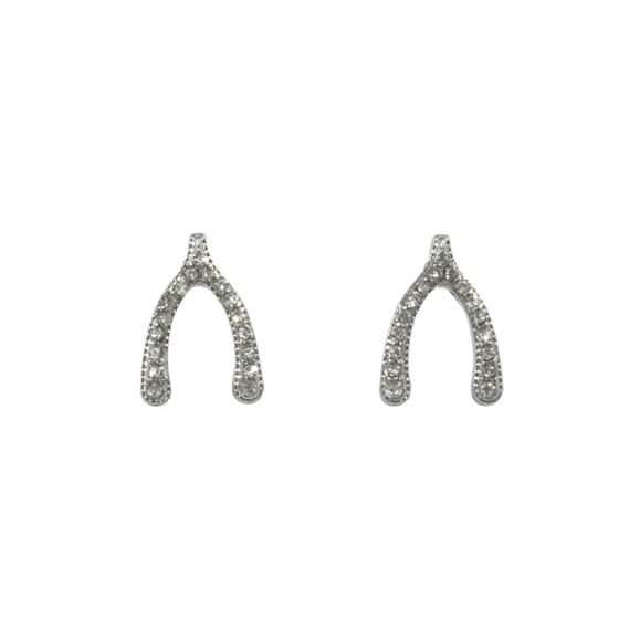 CRYSTAL WISHBONE EARRINGS - product image