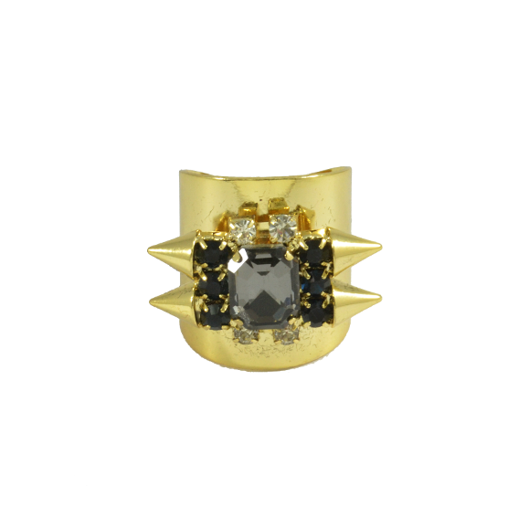 GLAMOROUS CRYSTAL AND SPIKE RING - product image