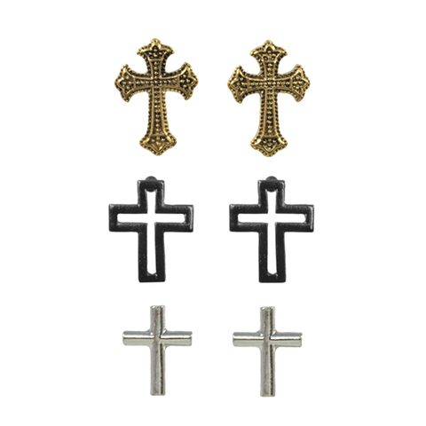 CROSS,EARRINGS,SET