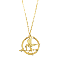 FIRE,BIRD,NECKLACE,hunger games gold necklace