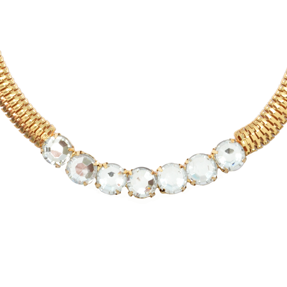 CRYSTAL WITH FLAT CHAIN NECKLACE - product image