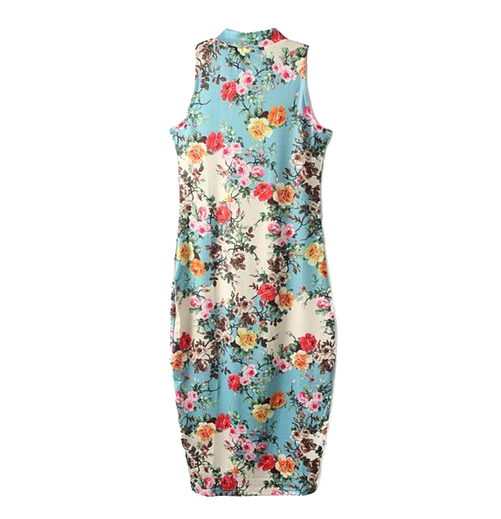 SUMMER FLORAL FITTED DRESS - product image