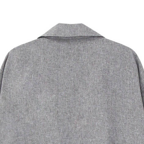 GREY LARGE COLLAR COAT - product image
