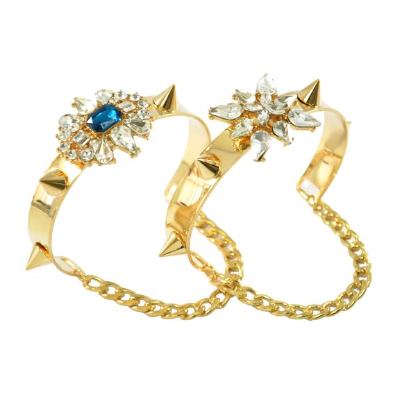 CRYSTAL WITH SPIKE BANGLE - product image
