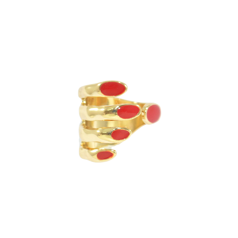 RED NAIL RING - product image