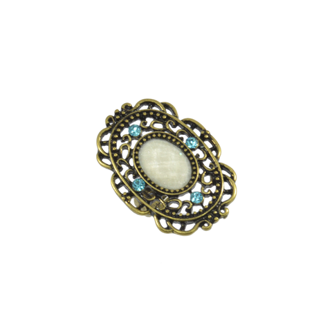 CRYSTAL,FILIGREE,RING