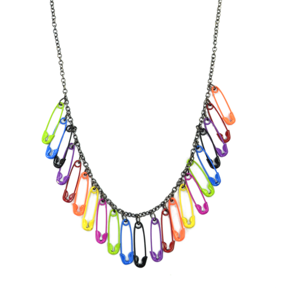 COLOURFUL PINS NECKLACE - product image