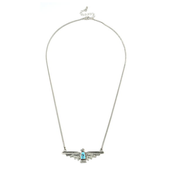 VINTAGE WINGSPAN BIRD NECKLACE - product image