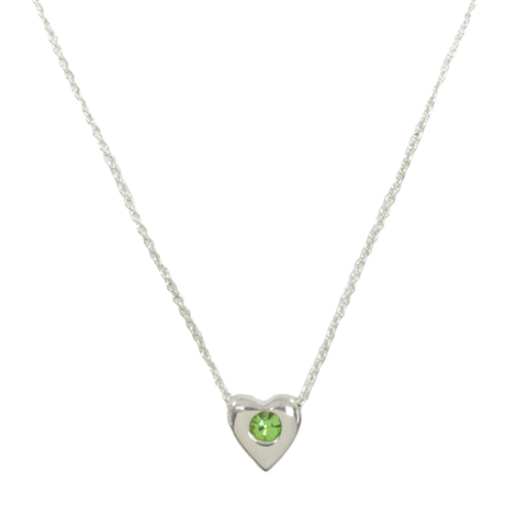 CRYSTAL,HEART,PENDANT,NECKLACE