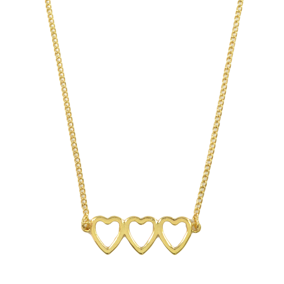 TRIPLE HEART NECKLACE - product image