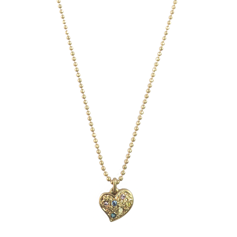 COLOUR,CRYSTALS,HEART,CHARM,NECKLACE