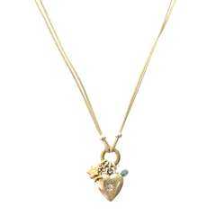 HEART,WITH,MINI,STARS,CHARM,NECKLACE