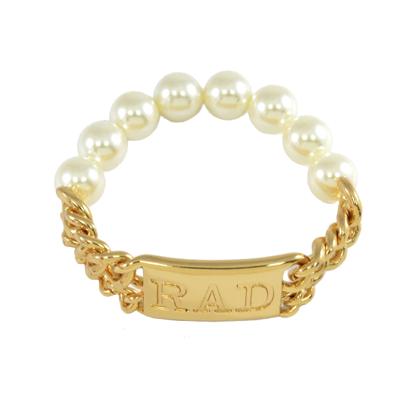 CHAIN WITH PEARL BRACELET - product image