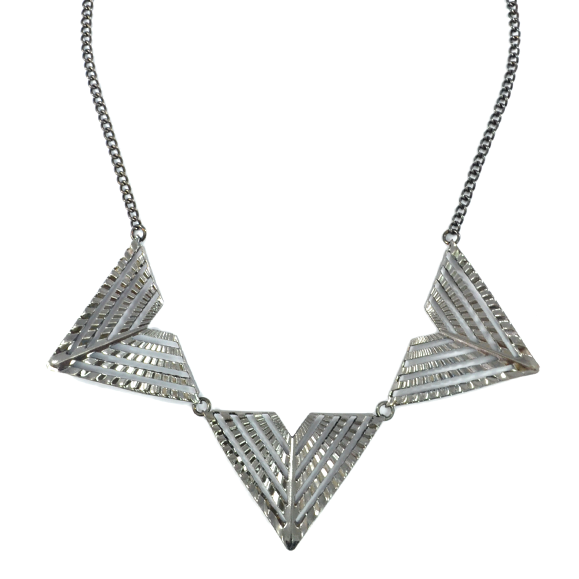 TRIPLE TRIANGLE NECKLACE - product image