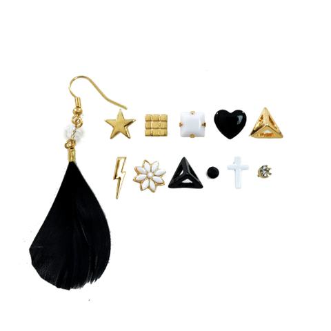 TRENDY,EARRING,SET