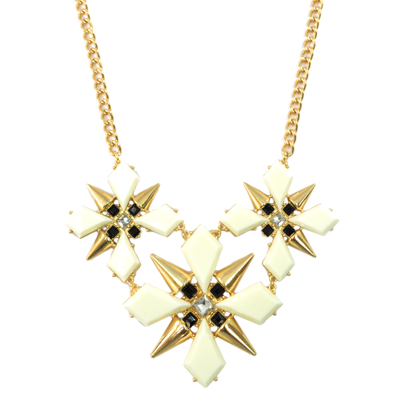 CRYSTAL AND SPIKE DART PENDANT NECKLACE - product image