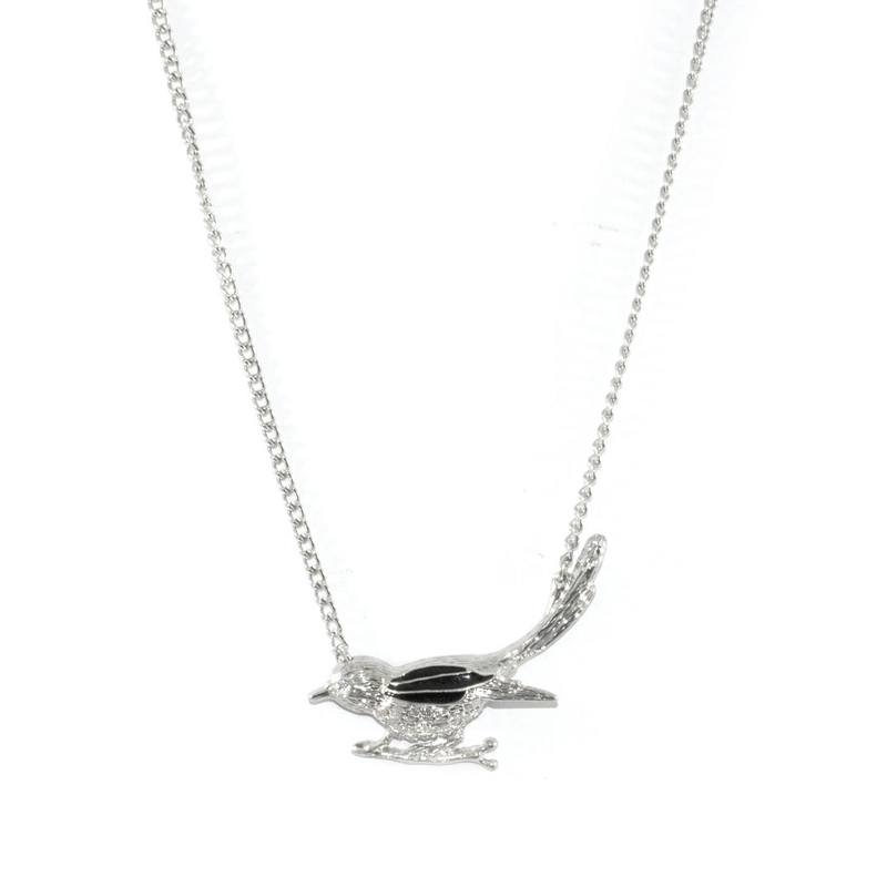 SILVER BIRD NECKLACE - product image