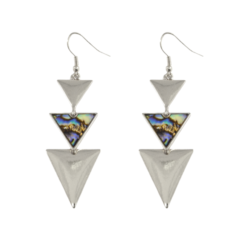TRIPLE,TRIANGLE,EARRINGS,triangle earrings, triangle jewelry