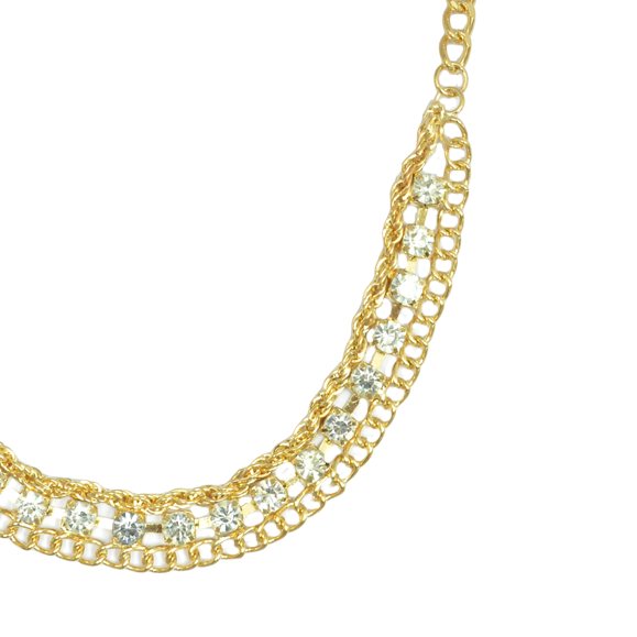CHAIN WITH CRYSTAL NECKLACE - product image