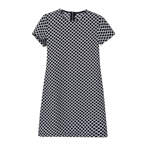 CHECK,DRESS,check pattern short sleeve dress, check short sleeve dress